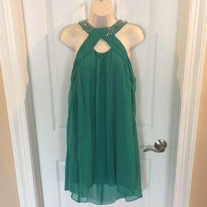 City Studio beaded neck dress, Jrs XL